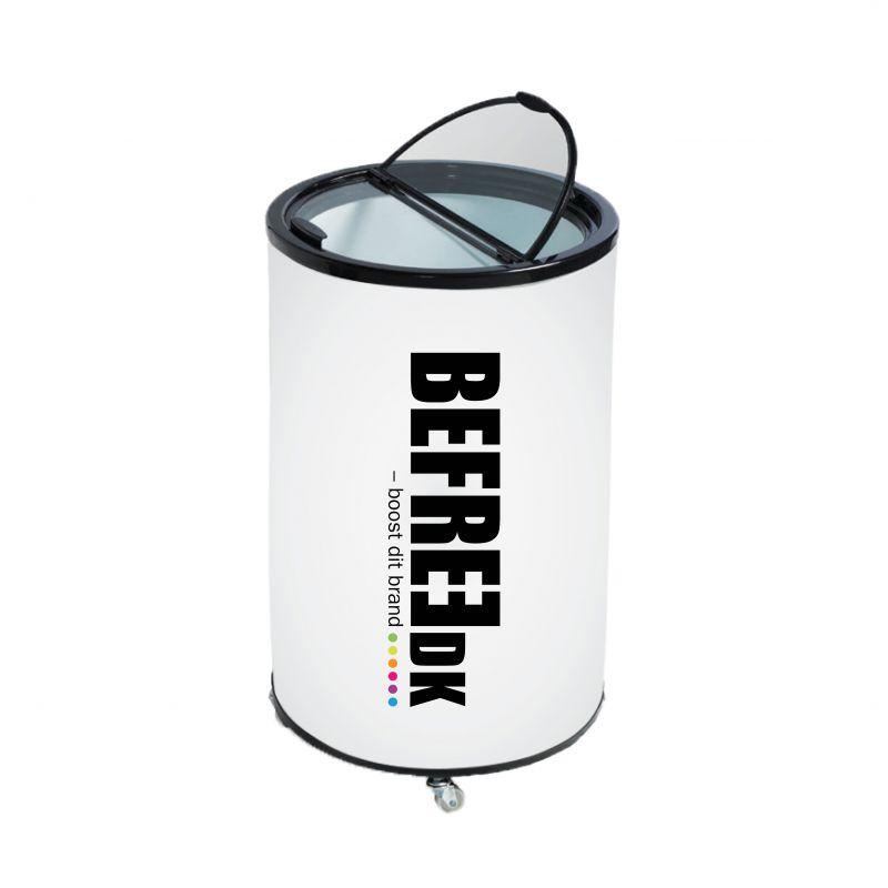 Hold dine logo vand iskolde med en vandkøler med dit logo på